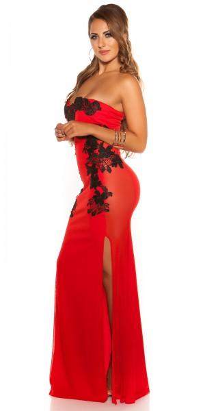 Sexy KouCla Long-Dress mit Stickerei