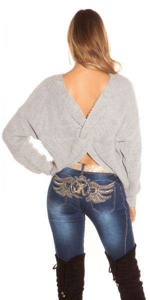 Sexy KouCla Knoten Look Pullover