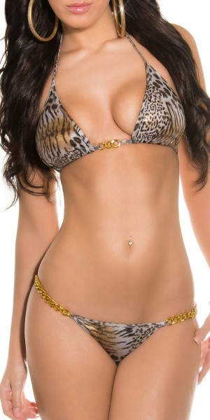Sexy Triangel-Bikinis im Animalprint