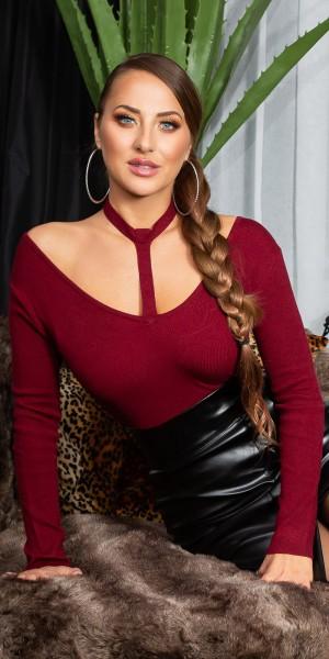 Sexy KouCla Sling Look V-Cut Pullover