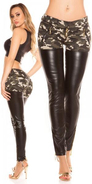 Trendy KouCla Skinnyhose mit Zips