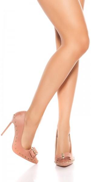 Sexy High Heels mit Nieten und Schleife
