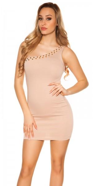 Sexy KouCla One-Shoulder Minikleid mit Nieten