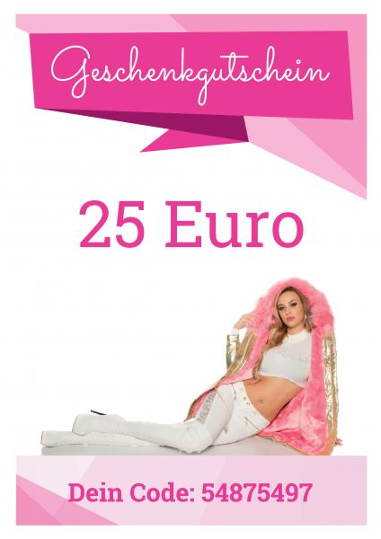 25 EUR Geschenkgutschein