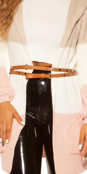 Trendy Kunstleder Taillengürtel