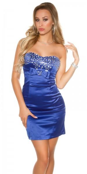 Sexy Bandeau Cocktail-Kleid mit Strasssteinen