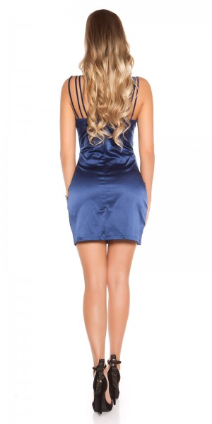 Sexy Cocktail-Kleid im Wickellook mit Strass