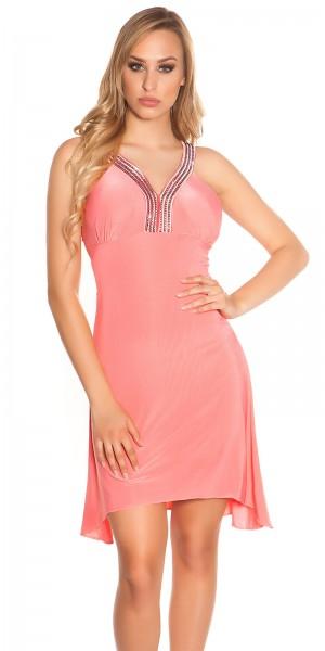 Sexy Gala-Kleid mit Strasssteinen