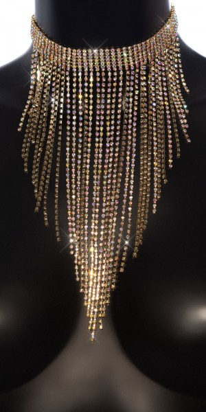 Sexy Großes Strass- Collier