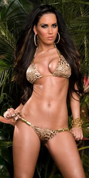 Sexy Triangel-Bikini mit Schnallen