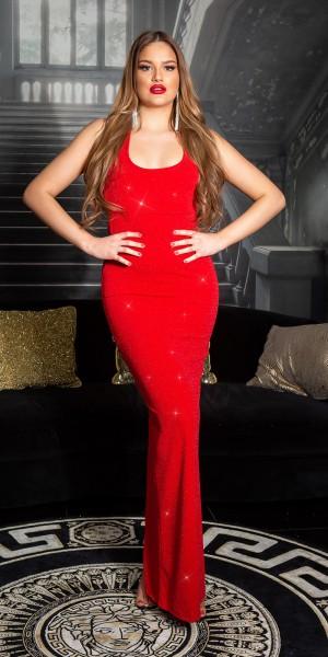 Sexy Red Carpet Look!KouCla Maxi Glitzer Kleid