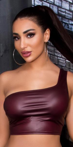 Sexy Koucla One-Shoulder Crop Top
