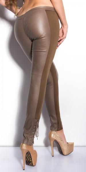 Sexy KouCla Treggings mit Schnürung am Bein