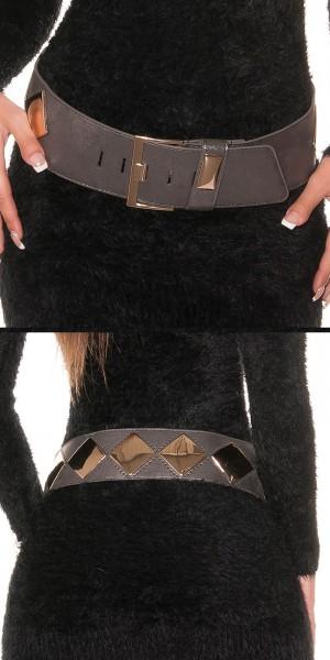 Trendy Gürtel im Metallic-Look